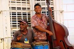 古巴音乐家特立尼达 免版税库存照片