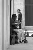 古巴音乐家街道 图库摄影