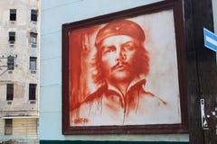 古巴,哈瓦那- 2012年5月14日:Comandante切・格瓦拉画象  免版税库存图片