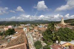 古巴,特立尼达,屋顶上面 库存照片