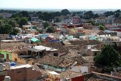 古巴,特立尼达,屋顶上面 免版税图库摄影