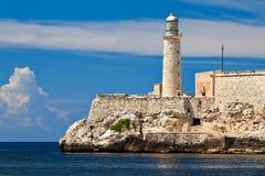 古巴el堡垒哈瓦那morro 免版税图库摄影
