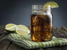 古巴Libre -兰姆酒和可乐 库存图片