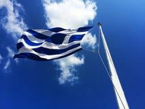从另一个看法的希腊-夏天2015年 免版税库存图片