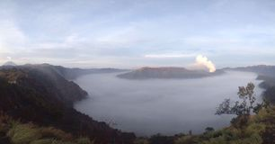 从另一个看法的Bromo山 库存照片