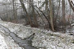 另一条溪流动的山河 免版税库存照片