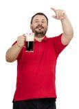 另外一啤酒,请-有胡子人说 免版税库存照片