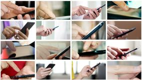 另外人民拼贴画递在智能手机的短信的SMS 股票录像