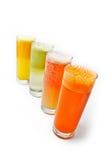 另外四块新鲜的玻璃汁液 库存图片