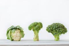 另外圆白菜 花椰菜,圆白菜,硬花甘蓝 免版税库存图片