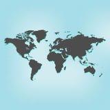 另外地球例证映射部分向量世界 库存图片