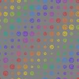 另外大小五颜六色的圈子的创造性的无缝的样式  免版税图库摄影