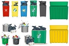 另外大小的trashcan 向量例证