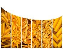 另外意大利种类意大利面食 食物拼贴画 免版税库存图片