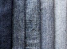 从另外树荫和bri蓝色牛仔裤小条的背景  免版税库存照片