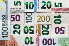另外欧元为背景发单金钱 免版税库存图片