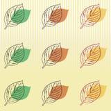 另外的秋天卡片形式 免版税图库摄影
