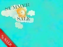 另外的背景是蓝色蝴蝶装生动被更改的标志格式销售额天空夏天的星期日于罐中 皇族释放例证