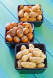 另外种类坚果 库存图片