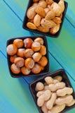另外种类坚果 免版税库存照片