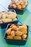 另外种类坚果 图库摄影