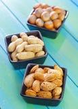 另外种类坚果 免版税图库摄影