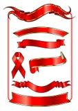 另外红色丝带形状 免版税库存照片