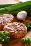 另外肝脏肉酱快餐排序 免版税库存照片