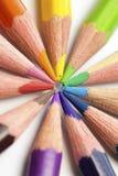 另外色的铅笔特写镜头 免版税图库摄影