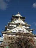 从另外角度的大阪宫殿 库存照片