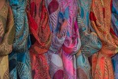 另外颜色丝织物细节 免版税库存图片