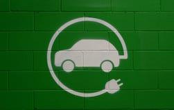 只停放标志的电动车 库存图片