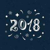 2018只手书面现代刷子字法clipart 时髦手字法样式,海报的,贺卡艺术印刷品设计和t 免版税库存照片