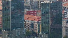 叫作双塔的居民住房在毕尔巴鄂,现代建筑学,西班牙 影视素材