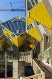 叫作立方体议院的现代大厦城市建筑学设计元素设计由Piet布洛姆 免版税库存图片