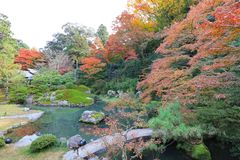 叫作Awata宫殿的寺庙的申英澈小室Shoren 免版税图库摄影