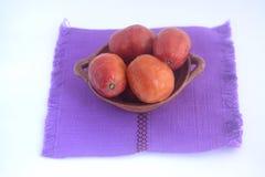叫作jobo、流浪汉或者yuplon的墨西哥热带水果 免版税库存照片
