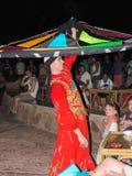 叫作Tanoura展示的传统埃及舞蹈 免版税图库摄影