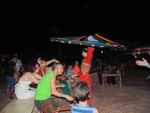 叫作Tanoura展示的传统埃及舞蹈 库存图片