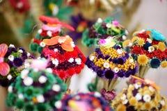 叫作verbos的传统立陶宛人复活节棕榈在复活节市场上卖了在维尔纽斯,立陶宛 免版税库存图片