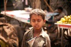 叫化子儿童印第安贫寒 免版税库存照片