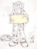 叫化子符号 皇族释放例证