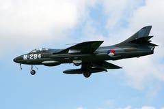 叫卖小贩猎人喷气式歼击机飞机 免版税库存图片