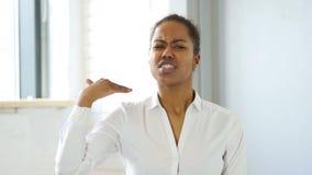叫喊恼怒的黑人妇女 股票视频