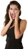 叫喊的女性青年时期 免版税库存照片