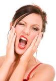 叫喊的妇女 免版税库存图片