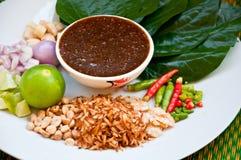 叫的可口食物kham miang泰国 库存图片