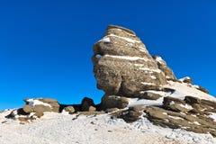叫的形成自然岩石狮身人面象 免版税图库摄影