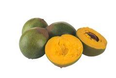 叫的果子lucuma秘鲁人 库存图片