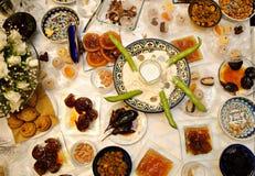 叫的宴餐犹太摩洛哥传统 免版税图库摄影